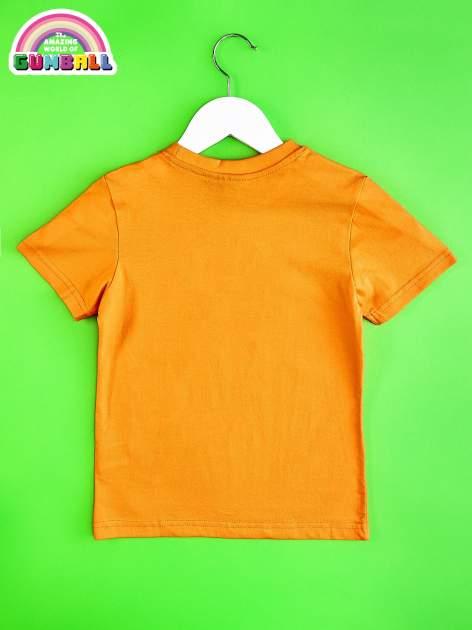 Pomarańczowy t-shirt chłopięcy GUMBALL                                  zdj.                                  2