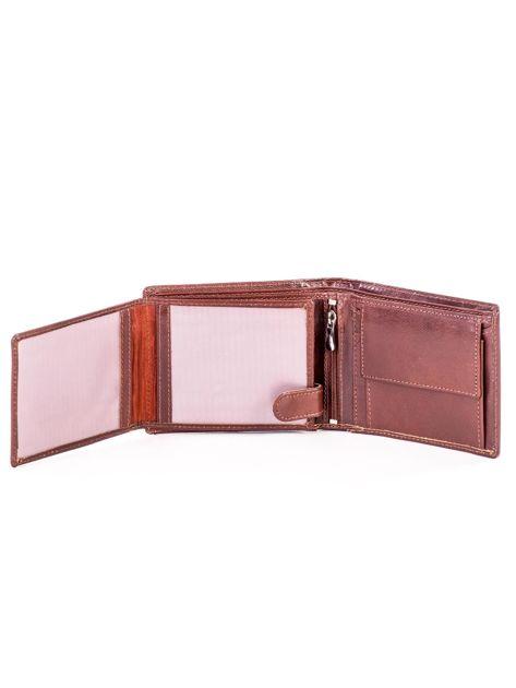 Portfel skórzany brązowy z tłoczeniem                              zdj.                              5