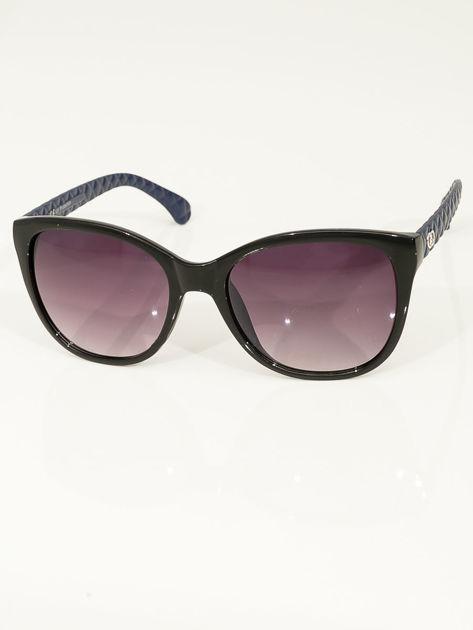 Przeciwsłoneczne okulary damskie z granatowymi zausznikami                              zdj.                              1
