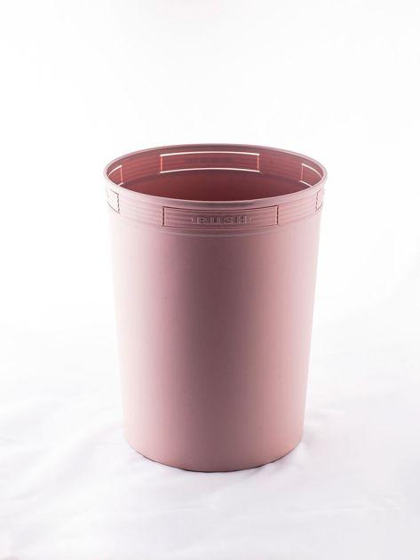 Pudroworóżowy pastelowy kosz na śmieci z holderem na worek                              zdj.                              4