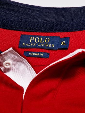 RALPH LAUREN Czerwona koszulka polo męska z naszywkami                                  zdj.                                  4