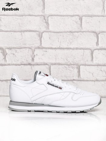 REEBOK Białe buty męskie sportowe Classic Leather z przeszyciami                              zdj.                              1