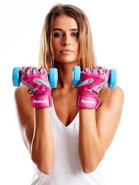 REEBOK Różowe rękawiczki treningowe                               zdj.                              4