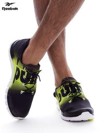 REEBOK ZPUMP FUSION Czarno-żółte buty męskie sportowe z nadrukiem                              zdj.                              1