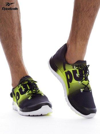 REEBOK ZPUMP FUSION Czarno-żółte buty męskie sportowe z nadrukiem                              zdj.                              3