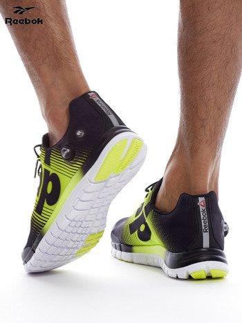 REEBOK ZPUMP FUSION Czarno-żółte buty męskie sportowe z nadrukiem                              zdj.                              6