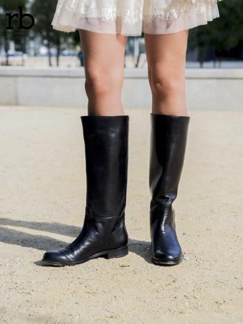 ROCCOBAROCCO czarne skórzane oficerki grain leather z suwakiem z tyłu                                  zdj.                                  4