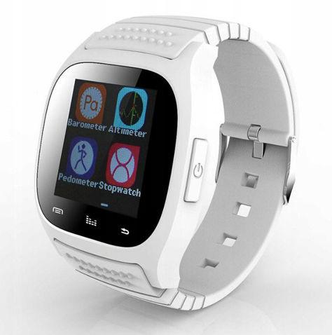 RONEBERG Smartwatch RM26 Współpracuje z Android oraz iOS Powiadomienia Połączenia Krokomierz Monitor snu Biały                              zdj.                              1