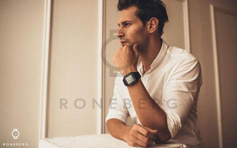 RONEBERG Smartwatch RM26 Współpracuje z Android oraz iOS Powiadomienia Połączenia Krokomierz Monitor snu Czarny                              zdj.                              6
