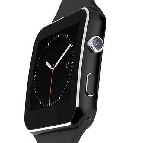 RONEBERG Smartwatch RX6 Współpracuje z Android oraz iOS Powiadomienia Połączenia Krokomierz Monitor snu Czarny                              zdj.                              3