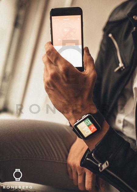 RONEBERG Smartwatch RX6 Współpracuje z Android oraz iOS Powiadomienia Połączenia Krokomierz Monitor snu Czarny                              zdj.                              6