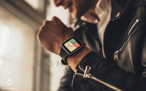 RONEBERG Smartwatch RX6 Współpracuje z Android oraz iOS Powiadomienia Połączenia Krokomierz Monitor snu Czarny                              zdj.                              8