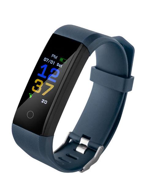 RONEBERG Smartwatch Smartband R115 Pulsometr Ciśnieniomierz Oksymetr Powiadomienia Długi czas działania Wodoodporny IP 67 Navy