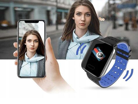 RONEBERG Smartwatch Smartband RA6 Pulsometr Ciśnieniomierz Oksymetr Powiadomienia Długi czas działania Czarny                              zdj.                              5