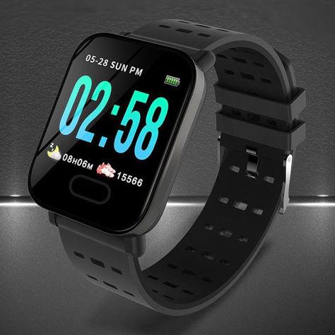 RONEBERG Smartwatch Smartband RA6 Pulsometr Ciśnieniomierz Oksymetr Powiadomienia Długi czas działania Czarny                              zdj.                              3