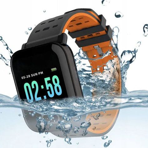 RONEBERG Smartwatch Smartband RA6 Pulsometr Ciśnieniomierz Oksymetr Powiadomienia Długi czas działania Czarny                              zdj.                              6