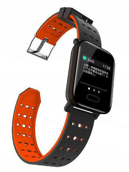 RONEBERG Smartwatch Smartband RA6 Pulsometr Ciśnieniomierz Oksymetr Powiadomienia Długi czas działania Czarny                              zdj.                              9