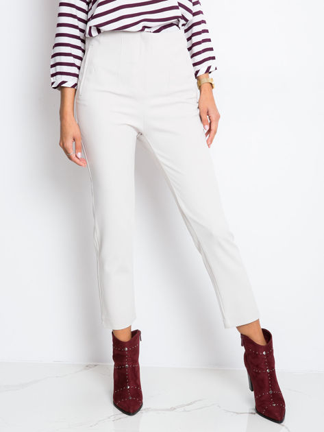 RUE PARIS Beżowe spodnie Hyper