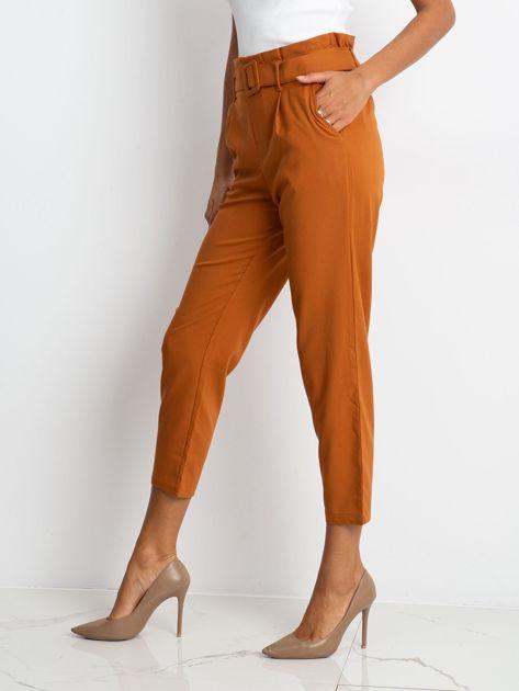 RUE PARIS Camelowe spodnie Sierra