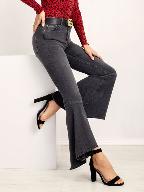 RUE PARIS Ciemnoszare jeansy Sight