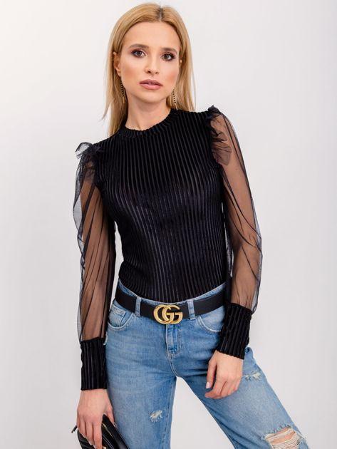 RUE PARIS Czarna bluzka Ally