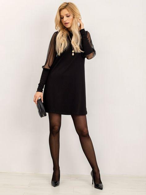 RUE PARIS Czarna sukienka Espinosa                              zdj.                              4