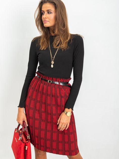 RUE PARIS Czerwono-czarna spódnica Diaz                              zdj.                              3