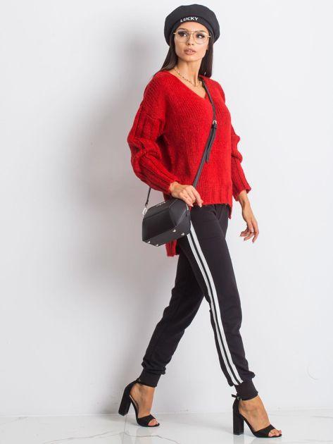 RUE PARIS Czerwony sweter Gift                              zdj.                              4
