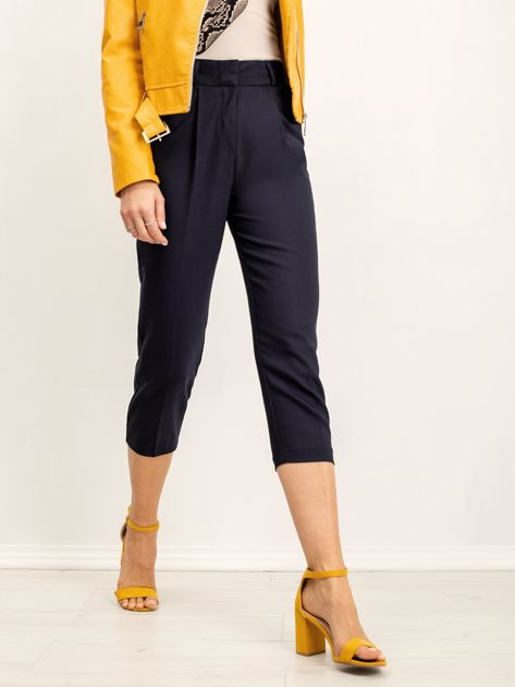 RUE PARIS Granatowe spodnie Shelley