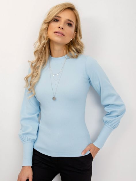 RUE PARIS Jasnoniebieska bluzka Lauren