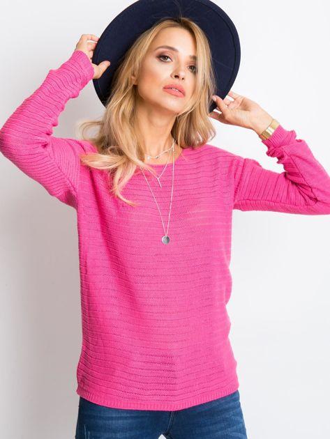 RUE PARIS Różowy sweter Sugarfrost                              zdj.                              5