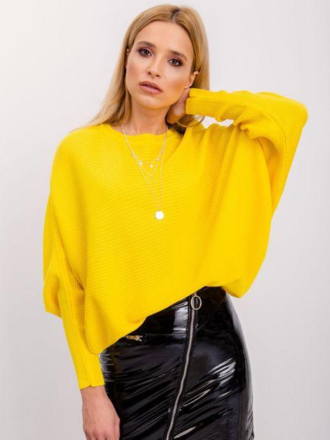 RUE PARIS Żółty sweter Pose