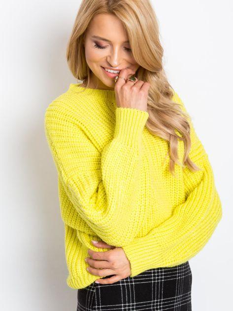 RUE PARIS Żółty sweter Zoe