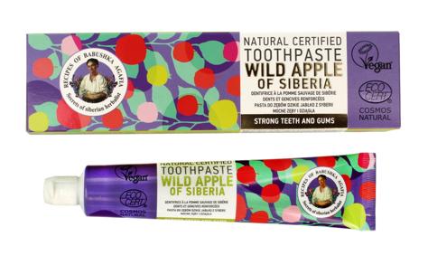 """Receptury Babuszki Agafii Pasta do zębów mocne zęby i dziąsła Wild Apple of Siberia 85g"""""""