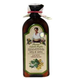 """Receptury Babuszki Agafii Szampon miód i lipa dla wszystkich włosów 350 ml"""""""