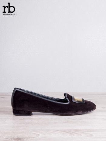 Roccobarocco brązowe baleriny shammy-leather z weluru                                  zdj.                                  1