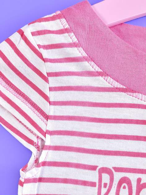 Różowa asymetryczna tunika dla dziewczynki ŚWINKA PEPPA                                  zdj.                                  3