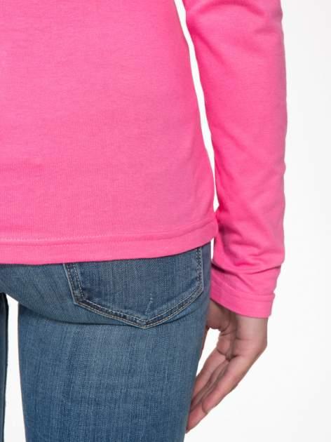 Różowa bawełniana bluzka typu basic z długim rękawem                                  zdj.                                  8