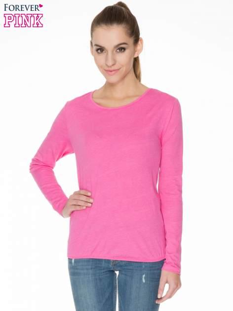 Różowa bawełniana bluzka z gumką na dole