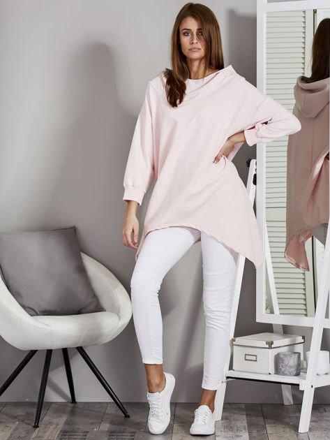 Różowa bluza oversize z kapturem                              zdj.                              4