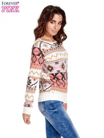 Różowa bluza w azteckie wzory                                  zdj.                                  3