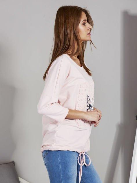 Różowa bluza z motywem motyli                              zdj.                              5