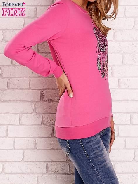Różowa bluza z nadrukiem łapacza snów                                  zdj.                                  3