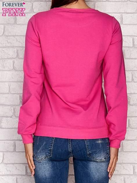 Różowa bluza z napisem ARIGATO                                  zdj.                                  4