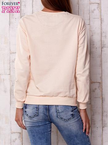 Różowa bluza z napisem USA                                  zdj.                                  4