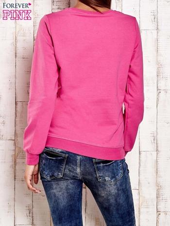 Różowa bluza z tekstowym nadrukiem                                  zdj.                                  4