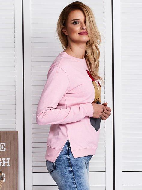 Różowa bluza ze szminkami                               zdj.                              3