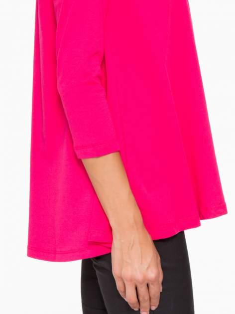 Różowa bluzka o rozkloszowanym kroju z rękawem 3/4                                  zdj.                                  8