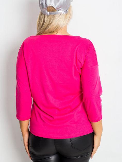 Różowa bluzka plus size Dreamer                              zdj.                              2