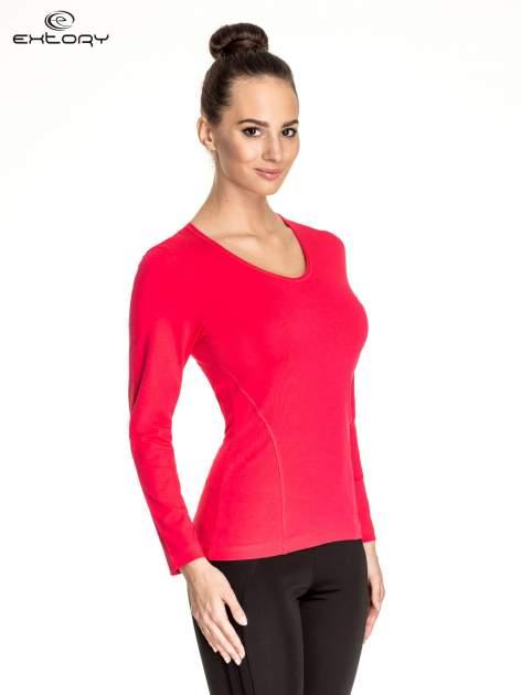 Różowa bluzka sportowa basic PLUS SIZE                                  zdj.                                  3